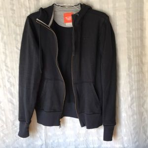 Nike cotton zip up hoodie jacket cardigan Sz 12-14